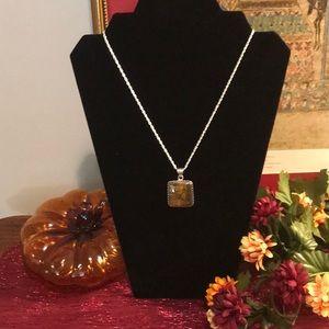 Jewelry - Beautiful Tigers Eye Pendant with 18 in chain